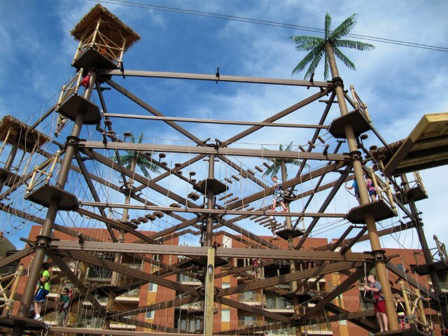 Sky Trail Explorer Kalahari Sandusky Ropes Course