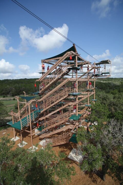 Sky Trail Explorer RCI Adventure Attraction Natural Bridge Caverns San Antonio Texas